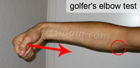 Golfers elbow test